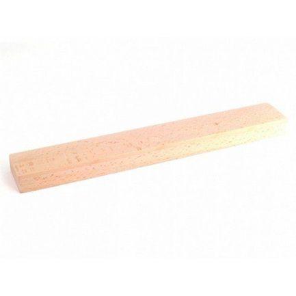 Настенная магнитная планка для хранения ножей, 42x6x3 см, буковое дерево
