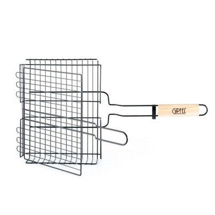 Решетка-гриль двойная объемная металлическая с антипригарным покрытием Teflon, 55х31х24х6 см