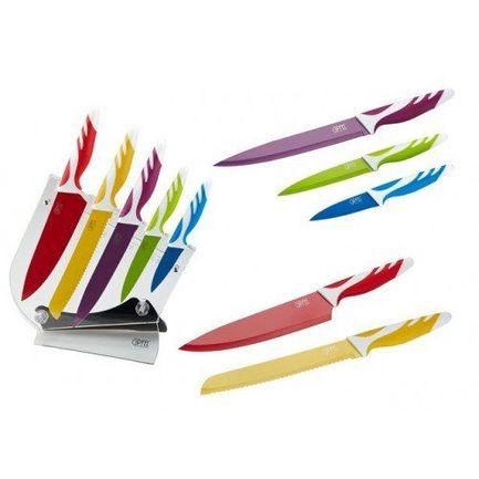 Набор ножей на пластиковой подставке с защитным покрытием, 6 пр. 6757 Gipfel набор ножей на подставке 6 пр 6697 gipfel