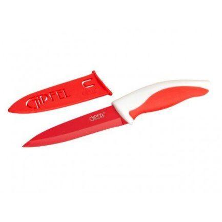 Нож Picnic в пластиковом чехле, пластиковая красная ручка 6797 Gipfel