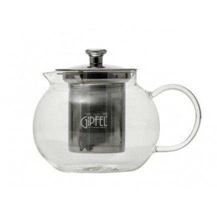 Чайник заварочный (600 мл), боросиликатное стекло 7082 Gipfel чайник электрический gipfel 2010 1л