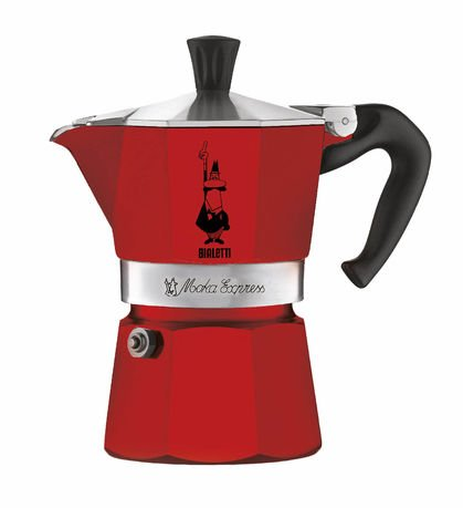 Гейзерная кофеварка Moka Express Color (0.24 л), на 6 чашек (4943) 0004943 Bialetti кофеварка гейзерная rainbow 0 24 л на 6 чашек фуксия 5013 bialetti