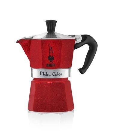 Гейзерная кофеварка Moka Express Emotion Red на 6 чашек (5293) 0005293 Bialetti кофеварка гейзерная rainbow 0 24 л на 6 чашек фуксия 5013 bialetti