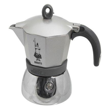 Гейзерная кофеварка Moka Induction (0.36 л), на 6 чашек 0004833/X4 Bialetti гейзерная кофеварка gat 103906 ne fashion 6 чашек