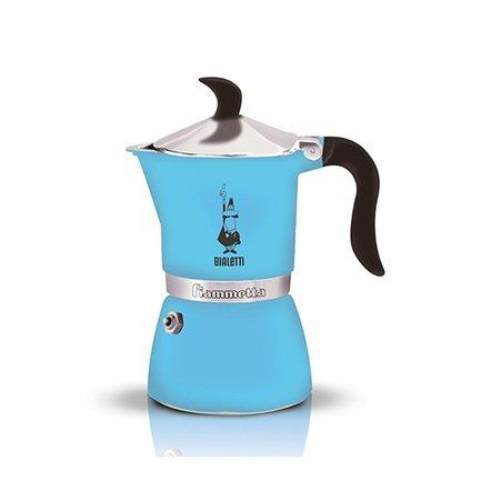 Гейзерная кофеварка Fiametta Light Blue (0.18 л), на 3 чашки (4632) 0004632 Bialetti
