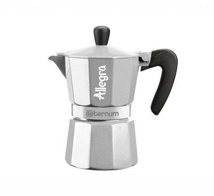 Гейзерная кофеварка Allegra Petra Silver (90 мл), на 3 чашки (6015) 0006015 Bialetti
