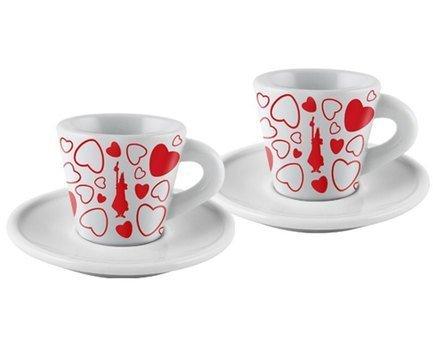 Набор кофейных пар Espresso Cuore (60 мл), 4 шт. Y0TZ022 Bialetti набор кофейных 6 пар carlsbad