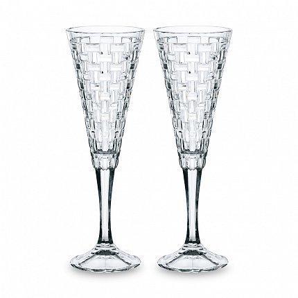 Фото - Набор фужеров для шампанского Bossa Nova (200 мл), 2 шт 99527 Nachtmann набор тарелок nachtmann bossa nova диаметр 32 см 2 шт