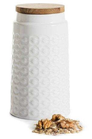 цена на Банка для сыпучих (1.2 л), 19 см, белая 5017745 Sagaform