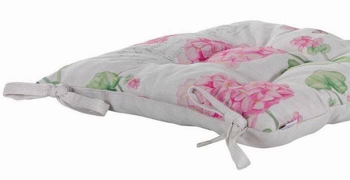 """Подушка на стул """"Розовая гортензия"""", 40х40 см, мультиколор от Superposuda"""