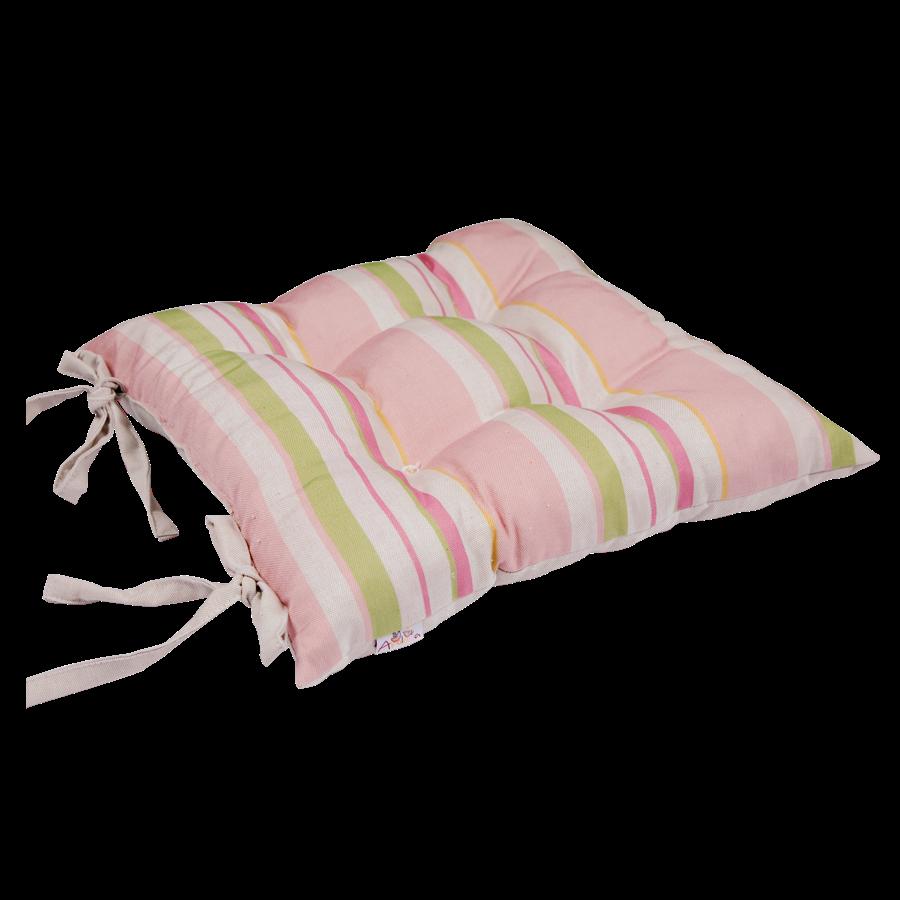 """Подушка на стул """"Розовая гортензия"""", 45х45 см, розовая от Superposuda"""