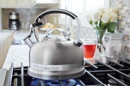 Чайник наплитный (1.89 л), со свистком, стальной от Superposuda