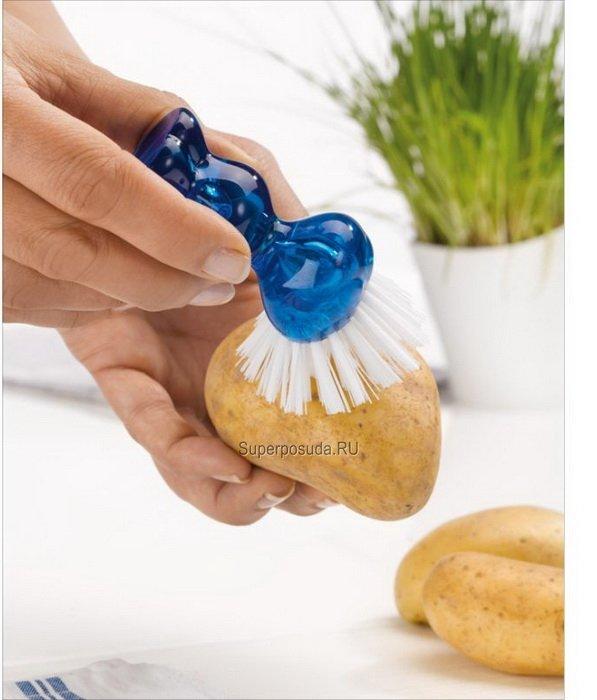 Щетка для чистки овощей TWEETIE (5029588), оливковая от Superposuda