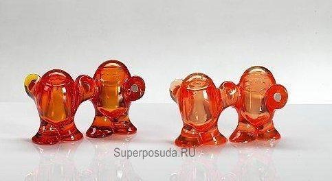 Набор из солонки и перечницы STEP'N PEP (3110536), оранжевый от Superposuda