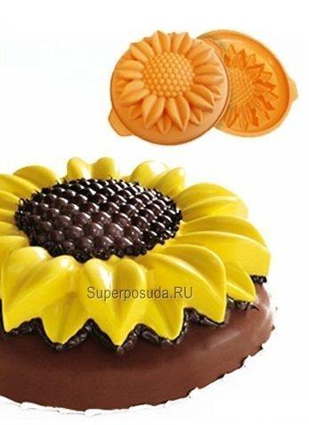 """Форма """"Подсолнух"""", 26см, оранжевый, в подарочной упаковке от Superposuda"""
