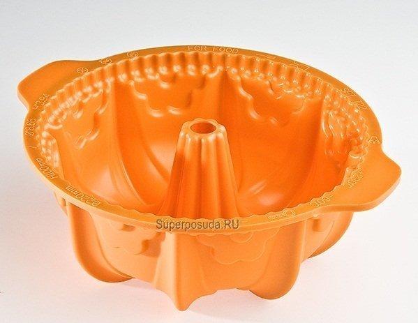 """Форма """"Цветок"""", 22 см, оранжевая, в подарочной упаковке от Superposuda"""