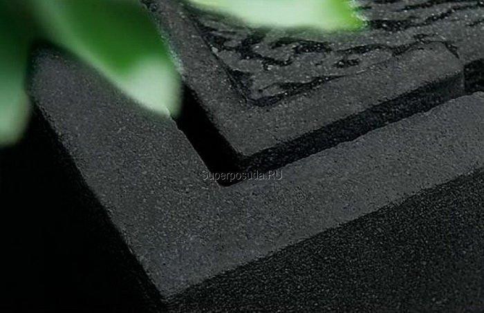 Фонтан Preto, 35х35х106 см, черный гранит от Superposuda