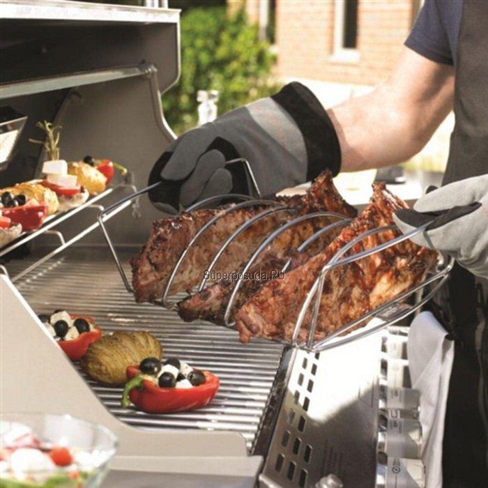 Сетка для жарки мяса-держатель для ребрышек от Superposuda