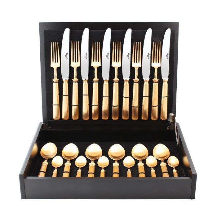 Набор столовых приборов Piccadilly gold, матовые, 24 пр. от Superposuda