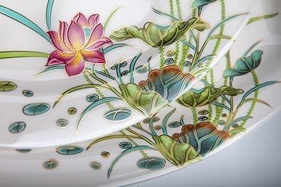 Набор тарелок Лотос на 6 персон, 18 пр. от Superposuda
