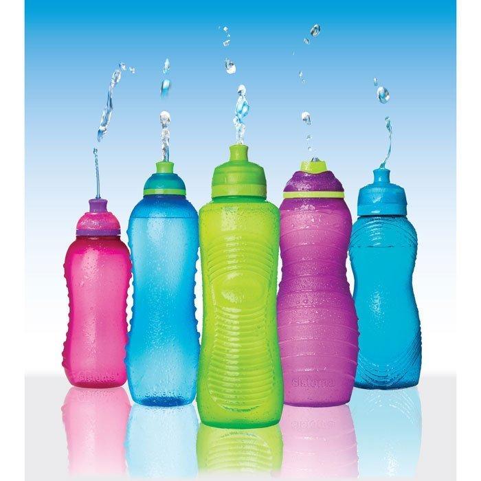 Спортивная питьевая бутылка (560 мл), 8.7х7.9х23 см, цвета в ассортименте от Superposuda