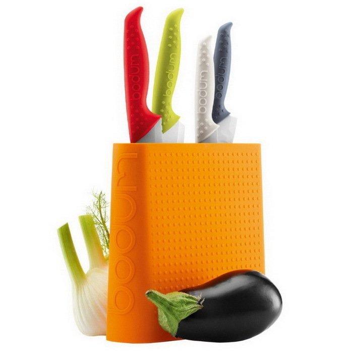 Подставка для ножей Bistro, белая от Superposuda