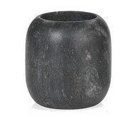 Andrea House Стакан для зубных щеток Black Stone, 8.5х8.5 см