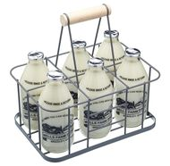 Kitchen Craft Корзина для хранения и переноски бутылок Living Nostalgia, 29х20х13 см, серая