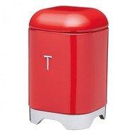 Kitchen Craft Ёмкость для хранения чая Lovello Retro, 11.5х11.5х18.5 см, красная