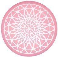 Kitchen Craft Силиконовый коврик-трафарет, 9 см, розовый