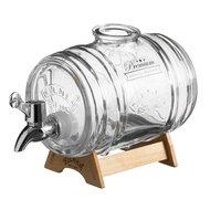 Kilner Диспенсер для напитков Barrel (1 л), 21.5х10.5х13 см, на подставке, в подарочной упаковке
