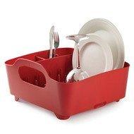 Umbra Сушилка для посуды Tub, 36.8х18.2х32 см, красная