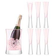 LSA International Набор для сервировки шампанского Moya, 7 пр., розовый