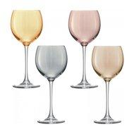 LSA International Набор бокалов для вина Polka (400 мл), 4 шт., металлик
