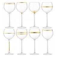 LSA International Набор бокалов для вина с золотым декором Deco (525 мл), 8 шт