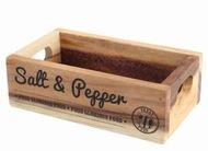T&G Подставка для солонки и перечницы Food Glorious Natural Rustic Acacia, 16х9х5 см, коричневая
