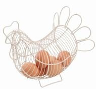 T&G Корзина для яиц Provence Small Cream, 23х13.5х20 см, бежевая