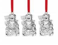 Набор новогодних украшений Снеговики, 7 см, 3 шт