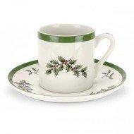Spode Чашка для эспрессо Рождественская ель (90 мл), с блюдцем