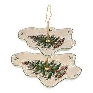 Spode Блюдо двухярусное Рождественская ель