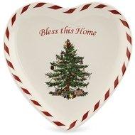 Spode Блюдо-сердце Рождественская ель, 20 см