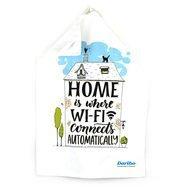 Daribo Полотенце кухонное Home is where Wi-Fi, 50x70 см