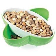 Qlux Менажница для орехов и сухофруктов, 19.5х19.5х7 см