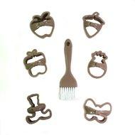 Qlux Набор для вырезания печенья Bow Tie, бежевый, 7 пр