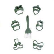 Qlux Набор для вырезания печенья Bow Tie, зеленый, 7 пр