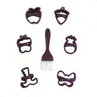 Qlux Набор для вырезания печенья Bow Tie, фиолетовый, 7 пр