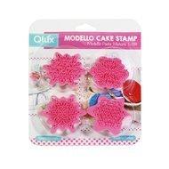 Qlux Тестоотделительный штамп Modello, 12х13х3 см, розовый, 4 шт