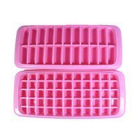 Qlux Форма для льда Twin, 26х13х5 см, розовая
