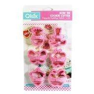 Qlux Формочка для печенья Bow Tie, розовая, 6 шт