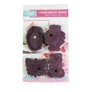 Qlux Формочки для печенья, 17х12х1.5 см, фиолетовые, 4 шт